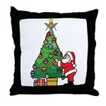 Santa and our star Throw Pillow