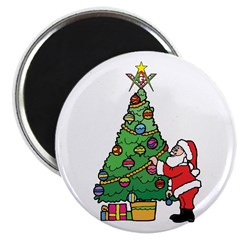 "Santa and our star 2.25"" Magnet (10 pack)"