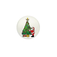 Santa and our star Mini Button (100 pack)
