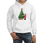 Santa and our star Hooded Sweatshirt