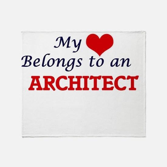 My Heart Belongs to an Architect Throw Blanket