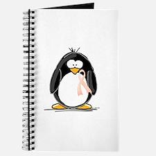 Peach Ribbon Penguins Journal