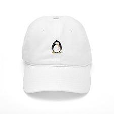 Peach Ribbon Penguins Baseball Cap