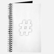 Hashtag - White Journal