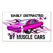 Easy pink Rectangle Decal
