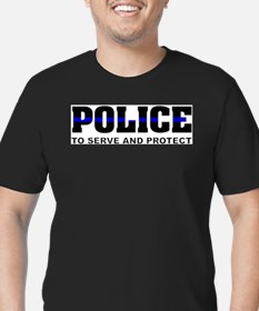 Thin Blue Line Ash Grey T-Shirt