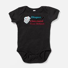 Funny Checked Baby Bodysuit