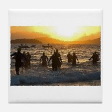 TRIATHLON SUNRISE Tile Coaster