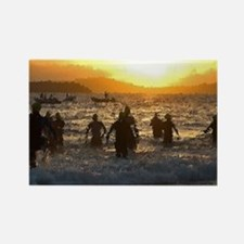 TRIATHLON SUNRISE Rectangle Magnet