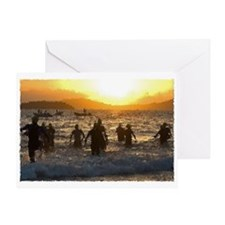 TRIATHLON SUNRISE Greeting Card