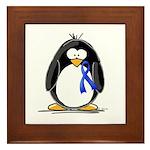 Blue Ribbon Penguin Framed Tile