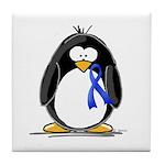 Blue Ribbon Penguin Tile Coaster