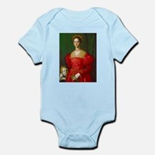 A Young Woman and Her Boy by Agnolo Bron Body Suit