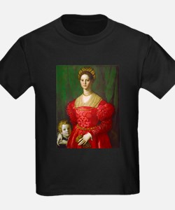 A Young Woman and Her Boy by Agnolo Bronzi T-Shirt