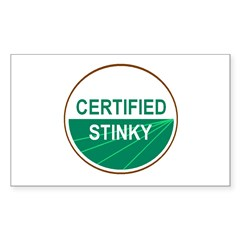 CERTIFIED STINKY Rectangle Decal