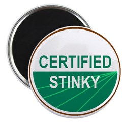"""CERTIFIED STINKY 2.25"""" Magnet (10 pack)"""