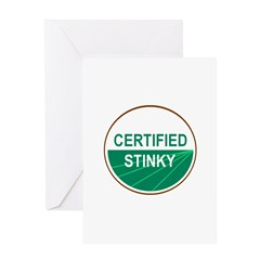 CERTIFIED STINKY Greeting Card