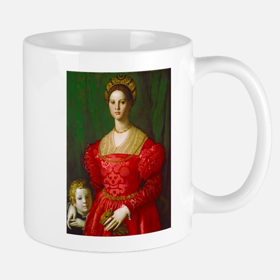 A Young Woman and Her Boy by Agnolo Bronzino Mugs