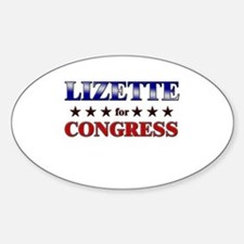 LIZETTE for congress Oval Decal