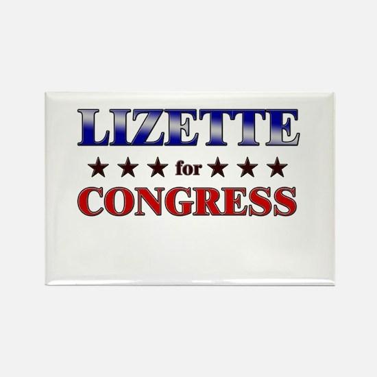 LIZETTE for congress Rectangle Magnet