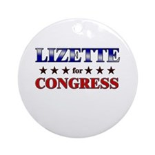 LIZETTE for congress Ornament (Round)