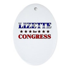 LIZETTE for congress Oval Ornament