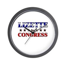 LIZETTE for congress Wall Clock