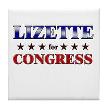 LIZETTE for congress Tile Coaster