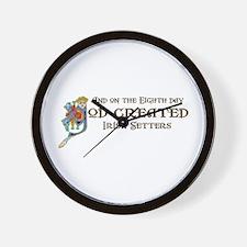 God Created Setters Wall Clock