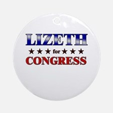 LIZETH for congress Ornament (Round)