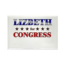 LIZBETH for congress Rectangle Magnet