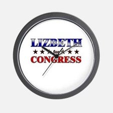 LIZBETH for congress Wall Clock