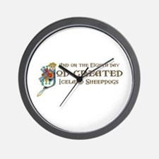 God Created Sheepdogs Wall Clock