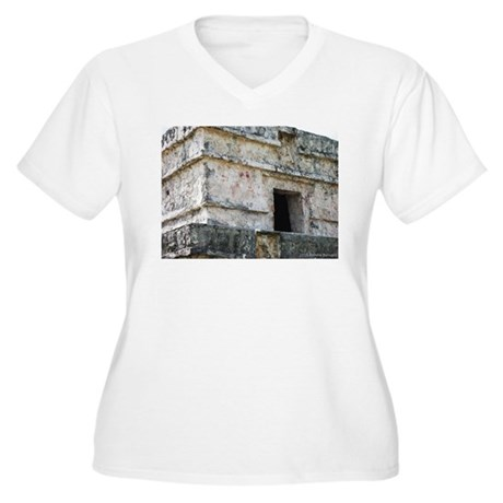 Mayan Ruins of Tulum (A) Women's Plus Size V-Neck