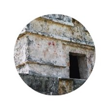 "Mayan Ruins of Tulum (A) 3.5"" Button"
