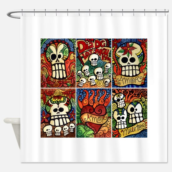 Day Of The Dead Sugar Skulls Shower Curtain