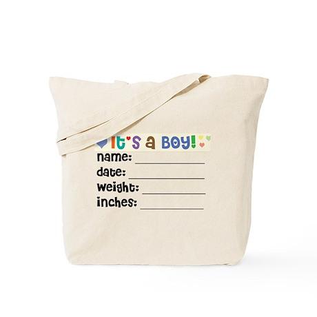 Birth Announcement Boy Tote Bag