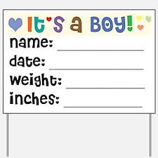 Birth Announcement Boy Yard Sign