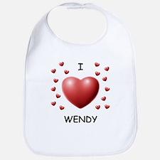 I Love Wendy - Bib