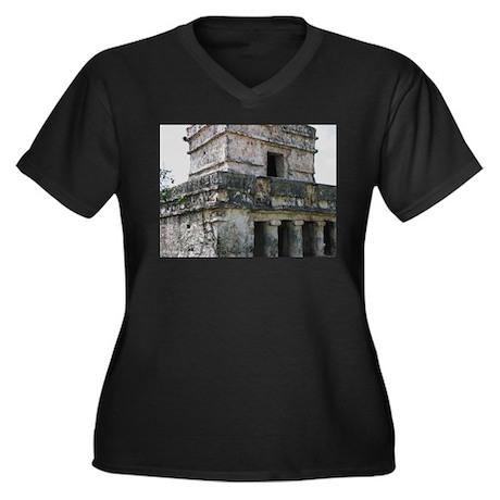 Mayan Ruins of Tulum (B) Women's Plus Size V-Neck