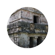"Mayan Ruins of Tulum (B) 3.5"" Button"