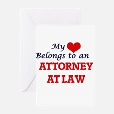 My Heart Belongs to an Attorney At Greeting Cards