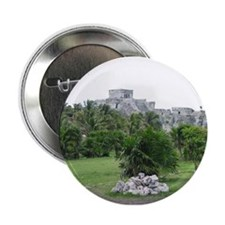 "Mayan Ruins of Tulum (C) 2.25"" Button"