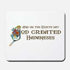 God Created Havaneses Mousepad