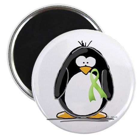Light Green Ribbon Penguin Magnet