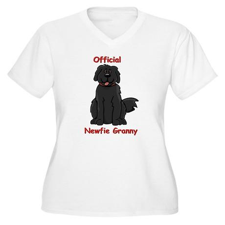 Newfie Granny Women's Plus Size V-Neck T-Shirt