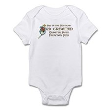 God Created Swissies Infant Bodysuit