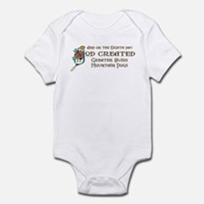 God Created Swissies Infant Bodysuit