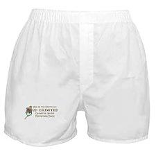 God Created Swissies Boxer Shorts