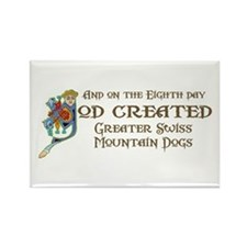 God Created Swissies Rectangle Magnet (100 pack)